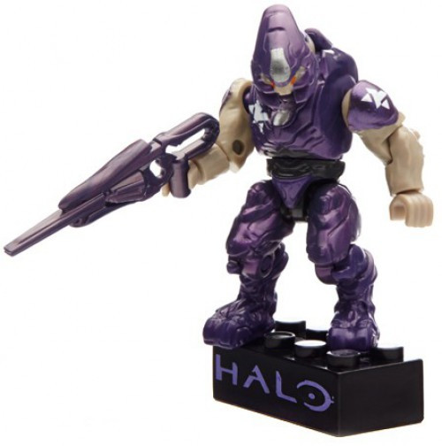 Mega Bloks Halo Metallic Elite Drop Pod Set #97356 [Purple Elite]