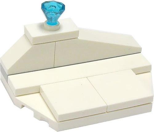 LEGO Castle Terrain Sets Ice Shelf with Diamond [Loose]