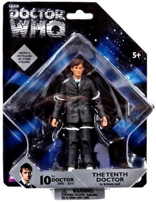 Doctor Who The Tenth Doctor Action Figure [Brown Suit Blue Stripes]