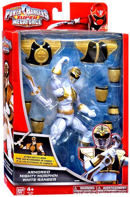 Power Rangers Super Megaforce Armored Mighty Morphin White Ranger Action Figure
