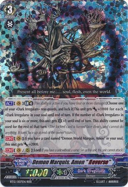 "Cardfight Vanguard Binding Force of the Black Rings RRR Rare Demon Marquis, Amon ""Reverse"" BT12/007"