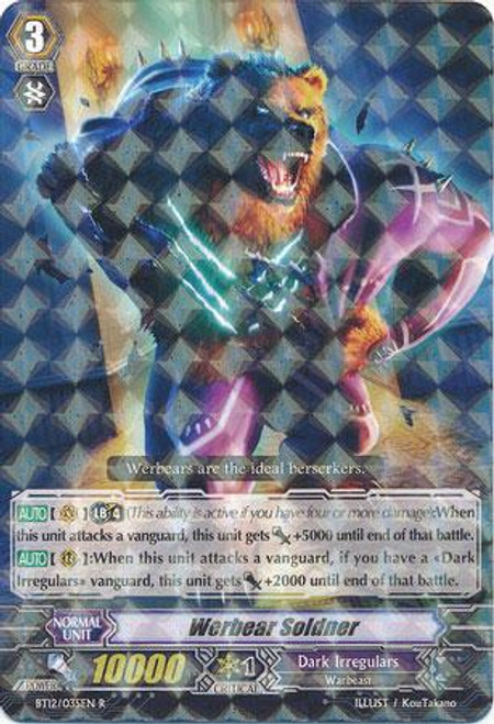 Cardfight Vanguard Binding Force of the Black Rings Rare Werbear Soldner BT12/035