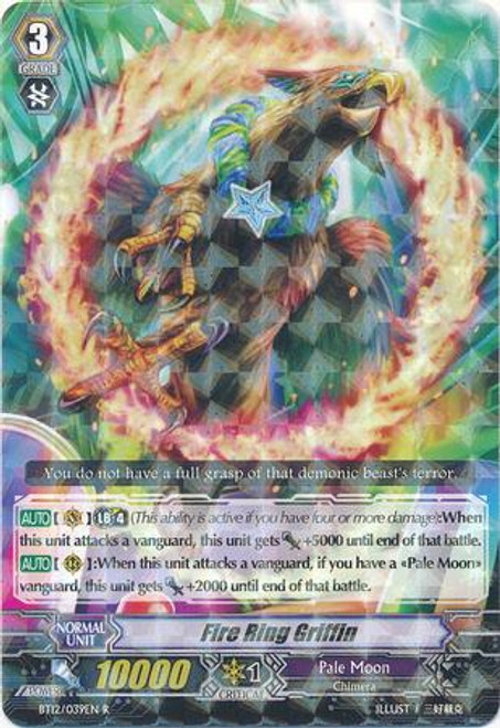 Cardfight Vanguard Binding Force of the Black Rings Rare Fire Ring Gryphon BT12/039