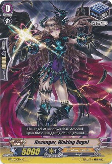 Cardfight Vanguard Binding Force of the Black Rings Common Revenger, Waking Angel BT12/050