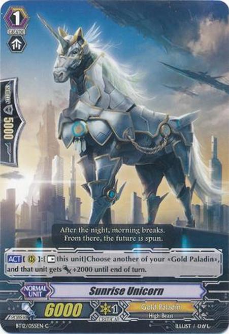 Cardfight Vanguard Binding Force of the Black Rings Common Sunrise Unicorn BT12/055