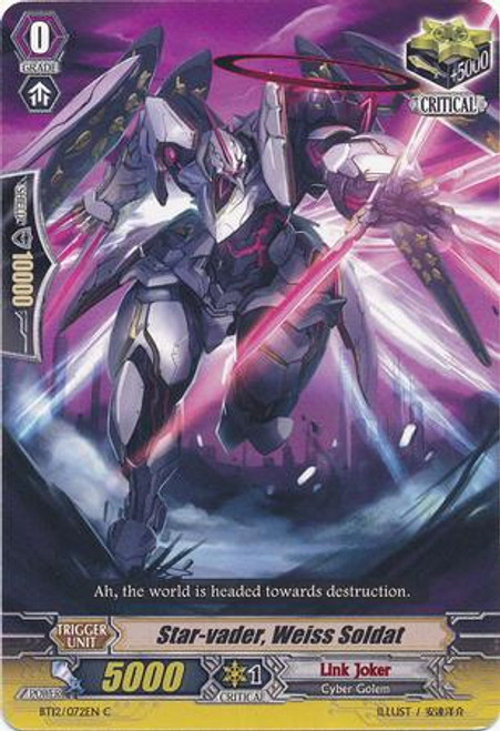 Cardfight Vanguard Binding Force of the Black Rings Common Star-vader, Weiss Soldiert BT12/072