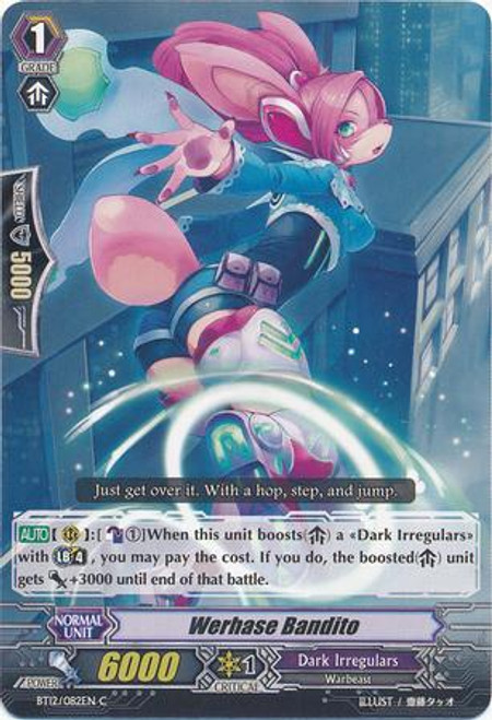 Cardfight Vanguard Binding Force of the Black Rings Common Werhase Bandit BT12/082