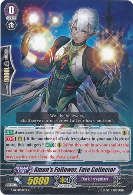 Cardfight Vanguard Binding Force of the Black Rings Common Amon's Follower, Fate Collector BT12/083