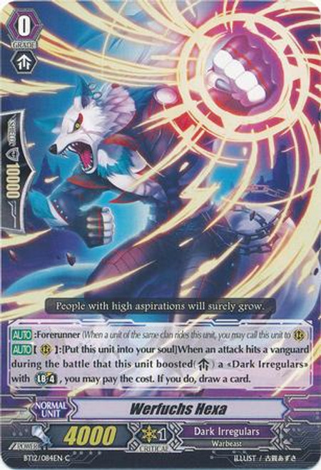 Cardfight Vanguard Binding Force of the Black Rings Common Werfuchs Hexer BT12/084