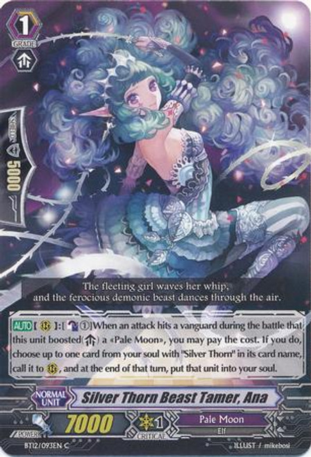 Cardfight Vanguard Binding Force of the Black Rings Common Silver Thorn Beast Tamer, Ana BT12/093