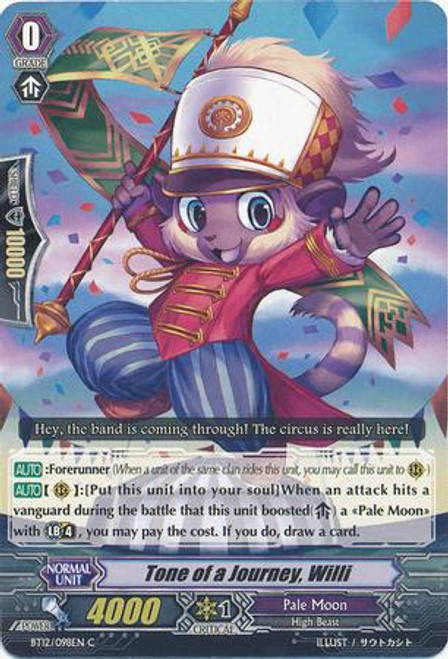Cardfight Vanguard Binding Force of the Black Rings Common Journeying Tone, Willy BT12/098