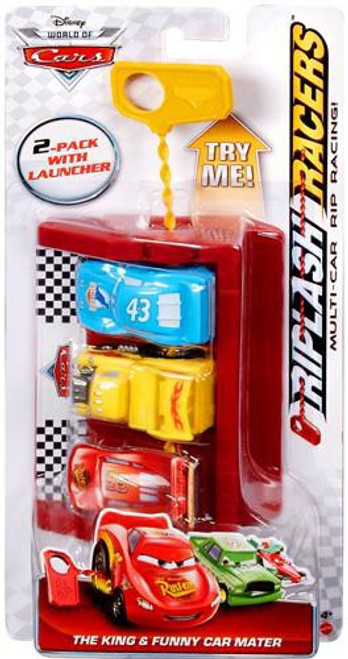 Disney Cars The World of Cars Riplash Racers The King & Funny Car Mater Riplash Racer 2-Pack