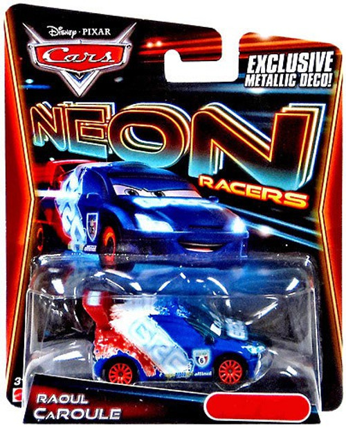 Disney Cars Neon Racers Raoul CaRoule Exclusive Diecast Car [Metallic Deco]