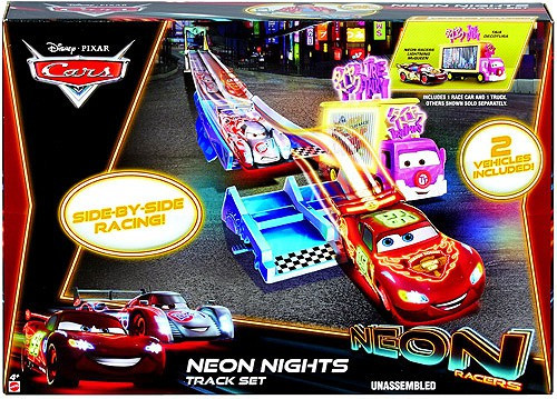Disney Cars Neon Racers Neon Nights Exclusive Diecast Car Track Set