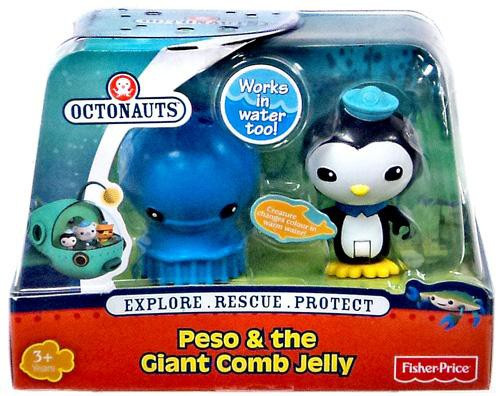 Fisher Price Octonauts Peso & The Giant Comb Jelly Figure Set