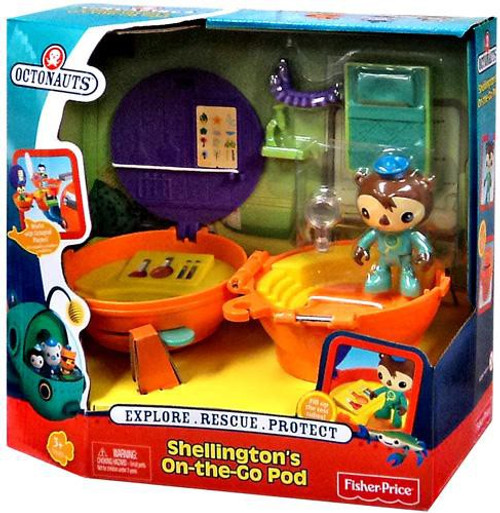 Fisher Price Octonauts Mission Vehicle Shellington's On-the-Go Pod Playset