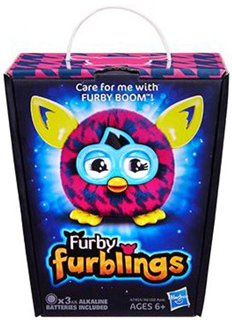 Furby Furblings Purple Houndstooth Figure