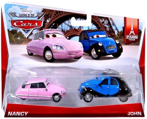 Disney Cars The World of Cars Nancy & John Diecast Car 2-Pack #1/7 & 2/7