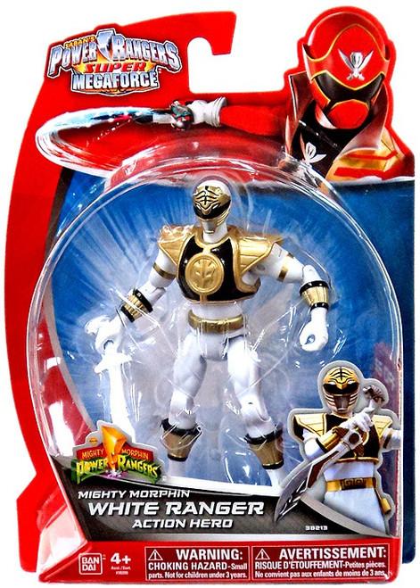 Power Rangers Super Megaforce Mighty Morphin White Ranger Action Hero Action Figure