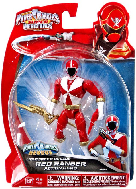 Power Rangers Super Megaforce Lightspeed Rescue Red Ranger Action Hero Action Figure
