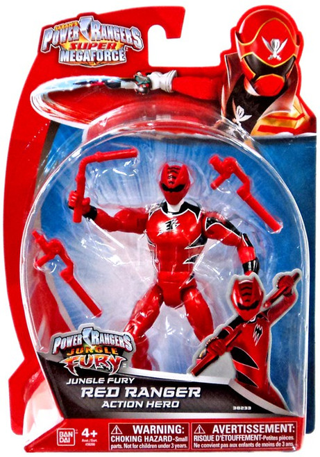 Power Rangers Super Megaforce Jungle Fury Red Ranger Action Hero Action Figure