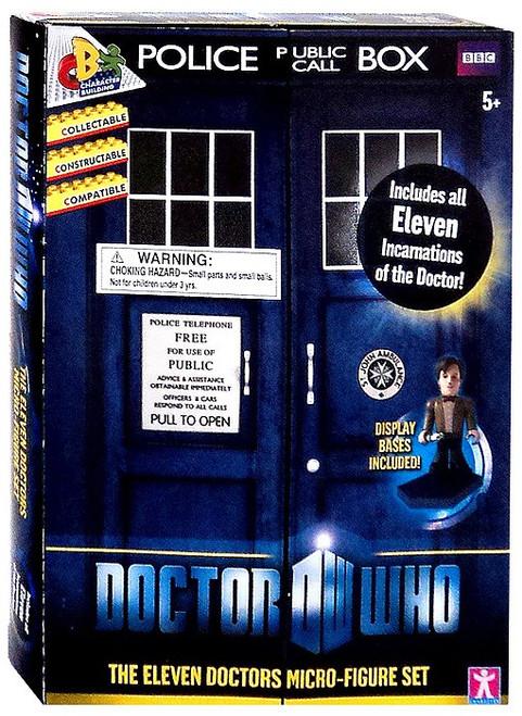 Doctor Who The Eleven Doctors Mini Figure Set [Blue Box]