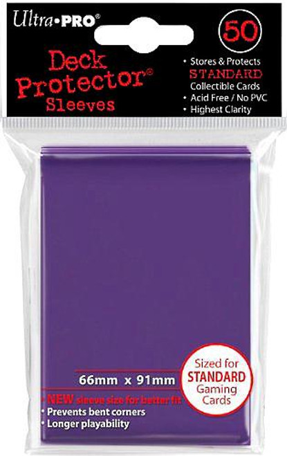 Ultra Pro Card Supplies Deck Protector Purple Standard Card Sleeves [50 ct]