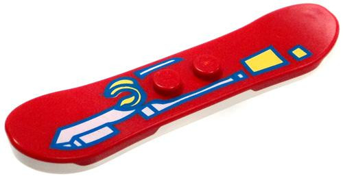 LEGO City Items White and Red Snowboard [Loose]