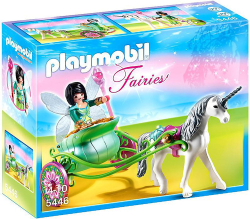 Playmobil Fairies Unicorn Carriage with Butterfly Fairy Set #5446