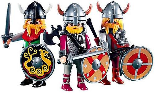 Playmobil Figures Three Viking Warriors Set #7677