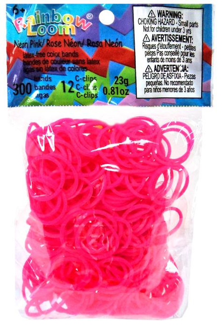 Rainbow Loom Neon Pink Rubber Bands Refill Pack [300 ct]