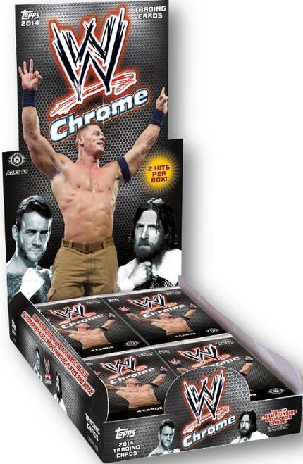 WWE Wrestling 2014 WWE Chrome Trading Card Box Trading Card Box