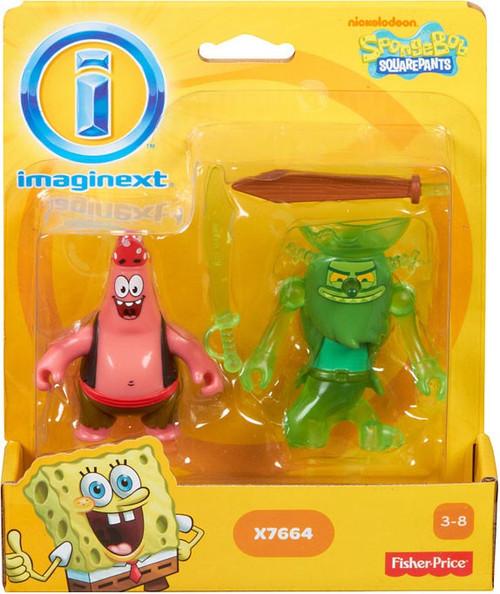 Fisher Price Spongebob Squarepants Imaginext Patrick & The Flying Dutchman Exclusive 2-Inch Mini Figure 2-Pack