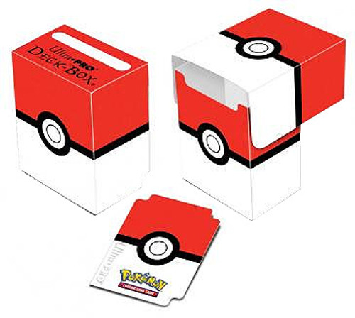 Ultra Pro Pokemon Card Supplies Red & White Pokeball Deck Box