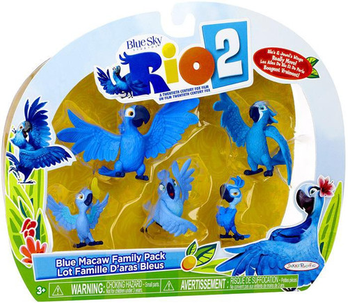 Rio 2 Blue Macaw Family Mini Figure 5-Pack [Blu, Jewel, Carla, Bia & Tiago]