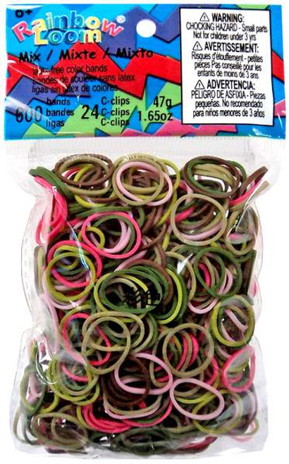 Rainbow Loom Pink Camouflage Rubber Bands Refill Pack [600 ct]