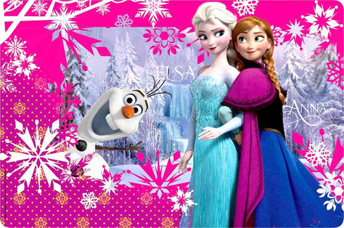 Disney Frozen 17 Inch Placemat 17-Inch [Anna, Elsa & Olaf]