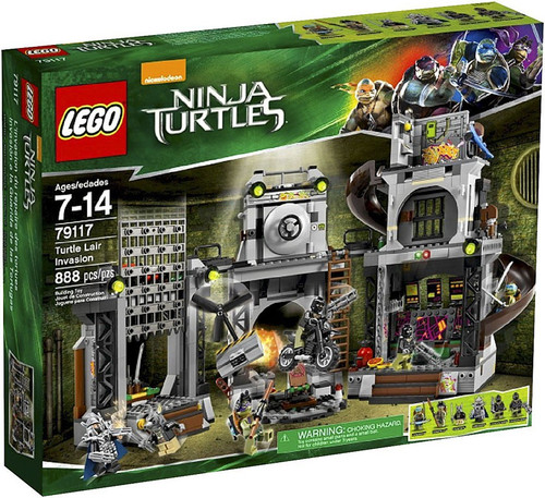 LEGO Teenage Mutant Ninja Turtles Ninja Turtles 2014 Turtle Lair Invasion Set #79117