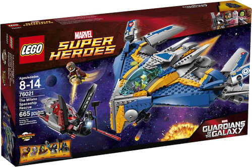 LEGO Marvel Super Heroes Guardians of the Galaxy Milano Spaceship Rescue Set #76021