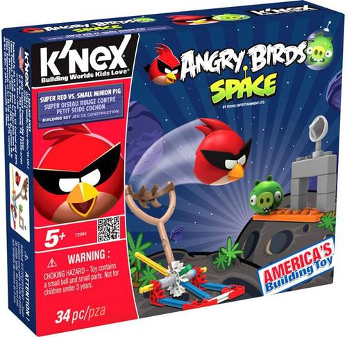 K'NEX Angry Birds Super Red Vs Small Minion Pig Set #72004