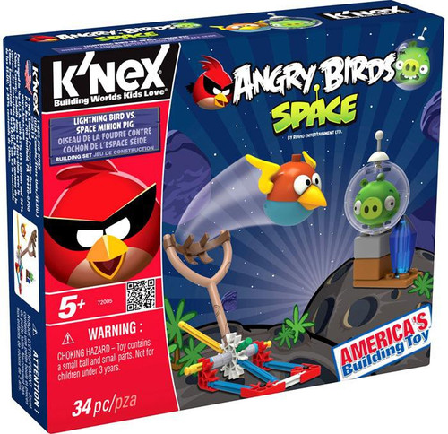 K'NEX Angry Birds Lightning Bird Vs Space Minion Pig Set #72005