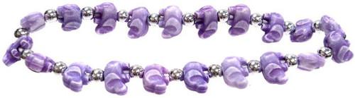 Elephantz Purple Elephants Bracelet