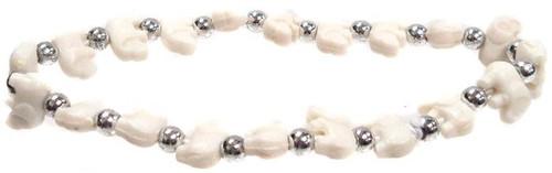 Elephantz White Elephants Bracelet