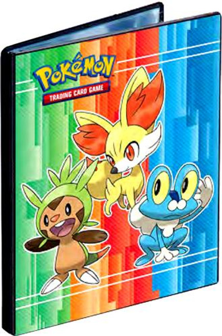 Ultra Pro Pokemon Card Supplies Froakie, Fennekin & Chespin 4-Pocket Binder
