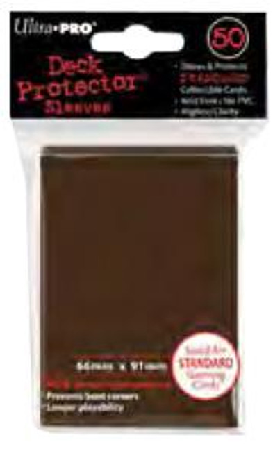 Ultra Pro Card Supplies Deck Protector Brown Standard Card Sleeves [50 ct]