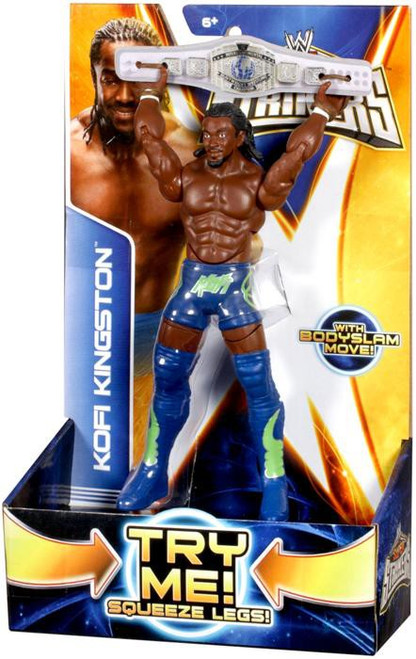 WWE Wrestling Super Strikers Kofi Kingston Action Figure