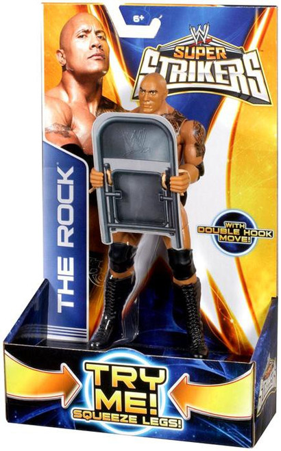 WWE Wrestling Super Strikers The Rock Action Figure