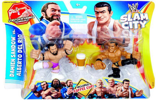 WWE Wrestling Slam City Damien Sandow vs Alberto Del Rio Action Figure 2-Pack