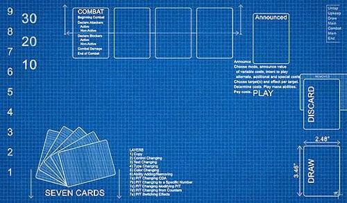 Card Supplies Blueprint Play Mat