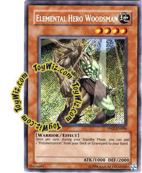 YuGiOh GX Premium Pack 2 Secret Rare Elemental Hero Woodsman PP02-EN004